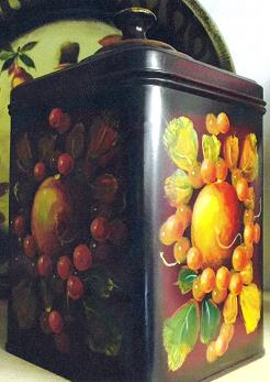John Dunn Red Tea Tin signed Original