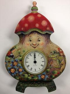 PP074 The Merry Mushroom Clock by Bobbie T.